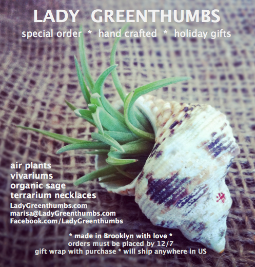 Holiday Gift Giving – with love, Lady Greenthumbs